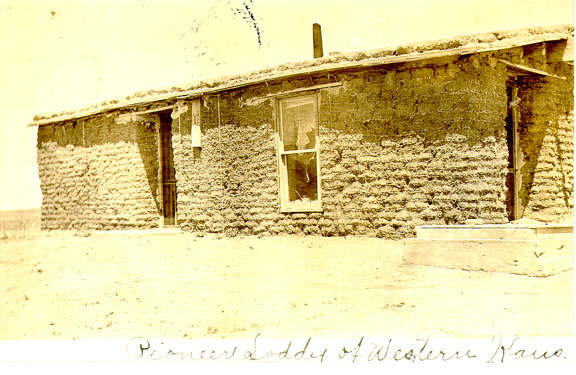Sod House Photograph Collection Mcallaster Kansas